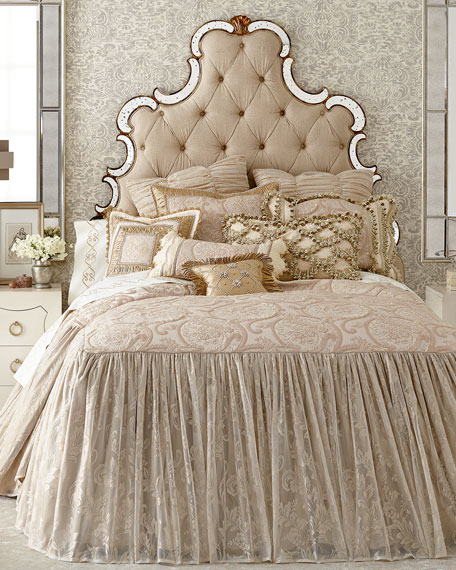 "Sweet Dreams Kensington Garden Silk Pillow with Buttons, 13""Sq."