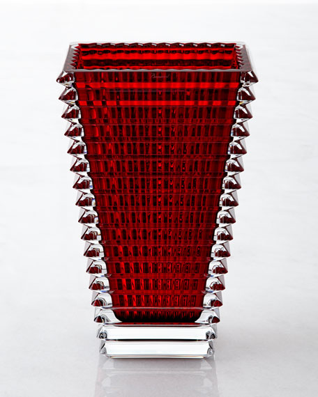 Baccarat Large Rectangular Eye Vase