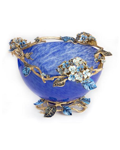 Jay Strongwater Sophie Hydrangea Glass Bowl