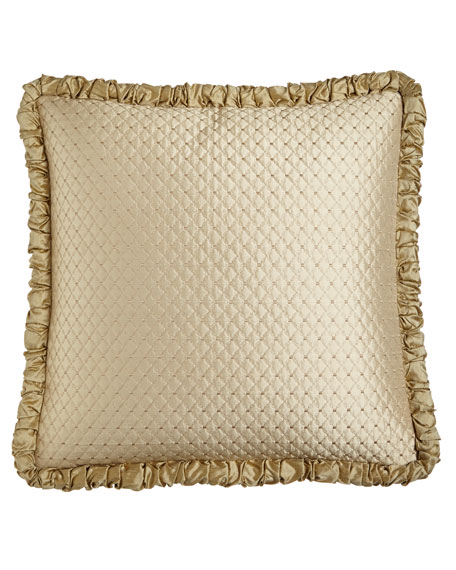 Austin Horn Classics Antoinette Diamond-Stitch European Sham with
