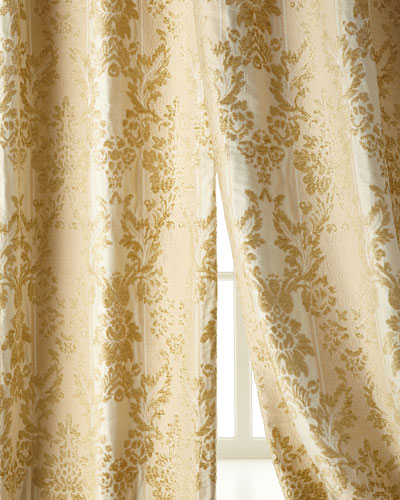 Two 50W x 96L Antoinette Curtains