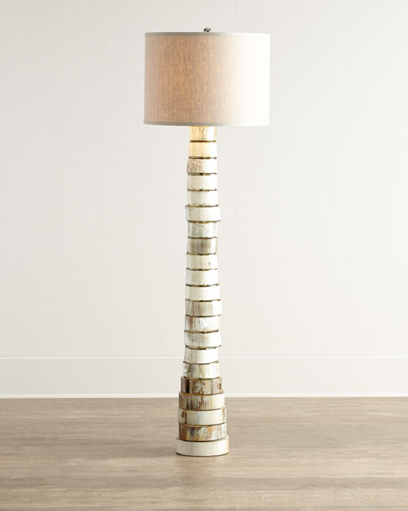 Image 1 of 3: Jamie Young Stacked-Horn Floor Lamp