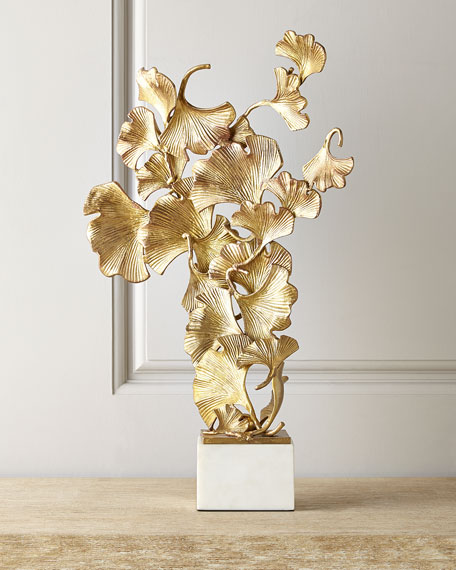 JohnRichard Collection Floating Ginkgo Leaves Sculpture Neiman