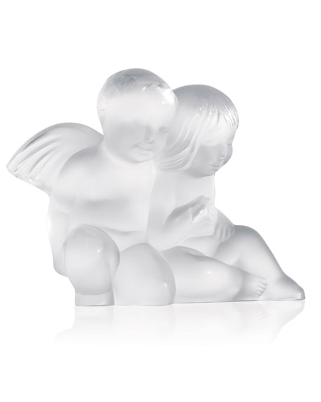 Lalique Twin Angels Figurine