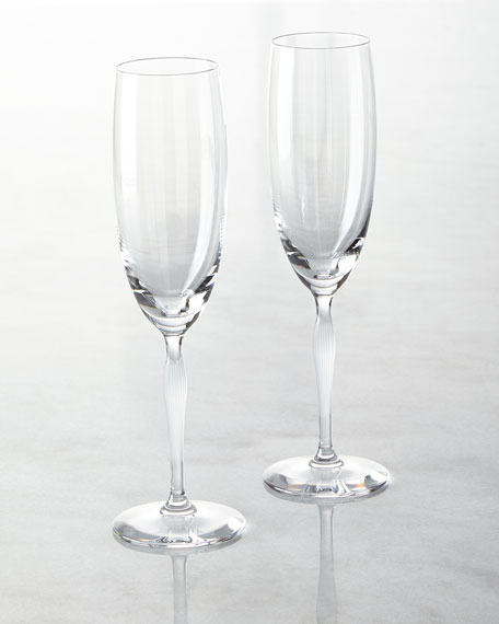 100 Points Champagne Flutes, Set of 2