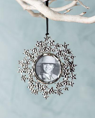Star Annual Frame Christmas Ornament