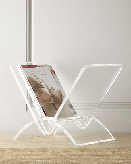 Interlude Home Versa Acrylic Magazine Rack Neiman Marcus