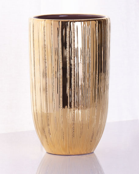 aerin textured gold vases. Black Bedroom Furniture Sets. Home Design Ideas