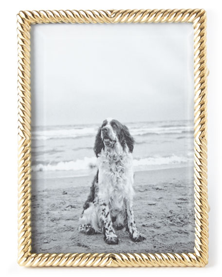 "Gold Deco Twist 5"" x 7"" Picture Frame"