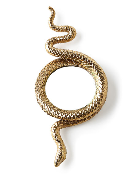 L'Objet Snake Gold-Plated Magnifying Glass
