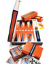Image 2 of 3: Orange Lacquer Backgammon Set