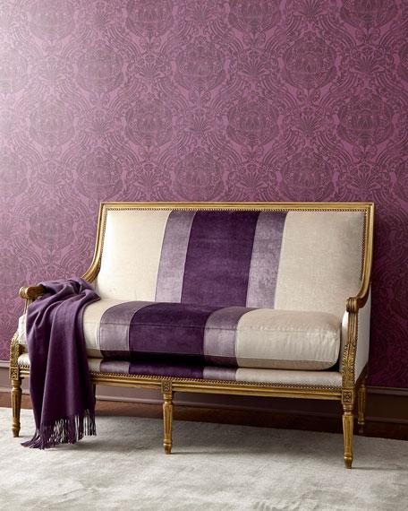 Lilah Violet Colorblock Settee