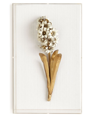 Original GIlded Hyacinth Study on Linen