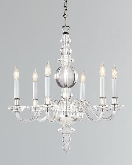 Visual Comfort George II Small 6-Light Polished-Nickel Chandelier