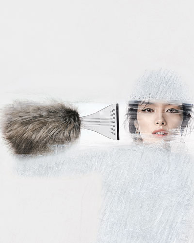Faux-Fur-Covered Ice Scraper