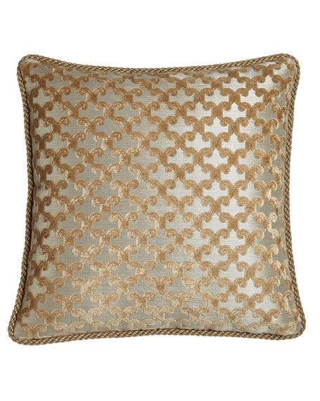 "Austin Horn Collection Allure Reversible Pillow with Cording, 20""Sq."