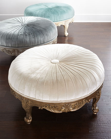 Massoud Scala Light Round Ottoman