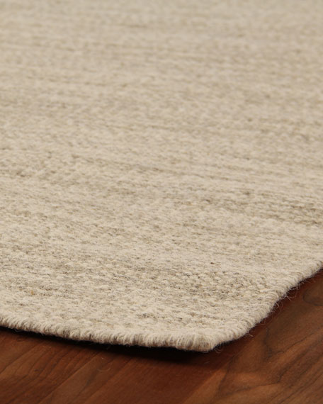 Heathered Flatweave Rug, 10' x 14'
