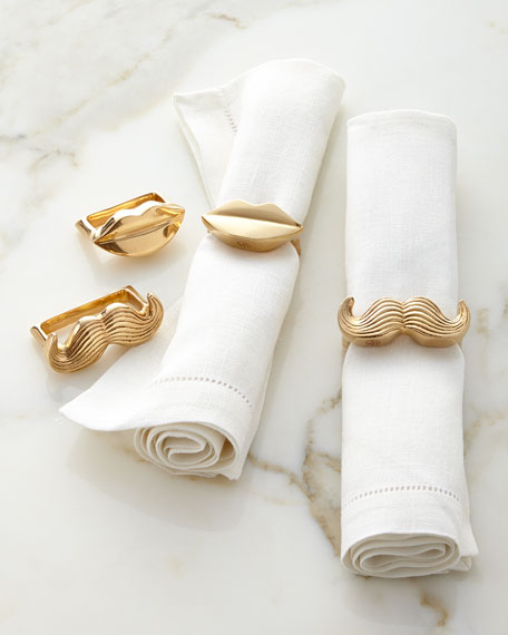Image 1 of 2: Mr. & Mrs. Muse Napkin Rings, Set of Four