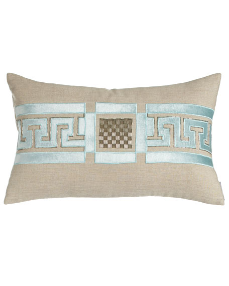 Lili Alessandra Dimitri Pillow with Beading Detail, 14