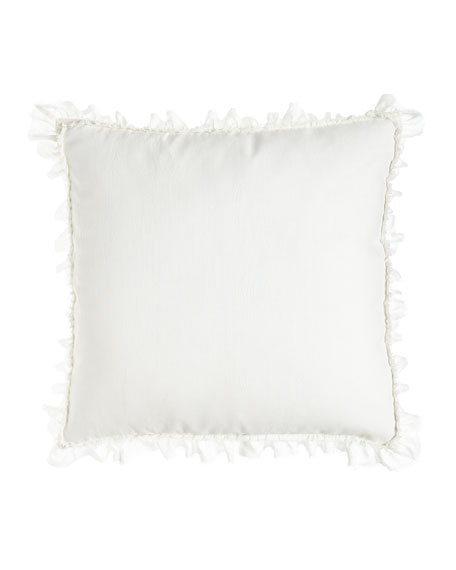 "Ruffled, Frayed-Edge Mathilde European Sham, 26""Sq."