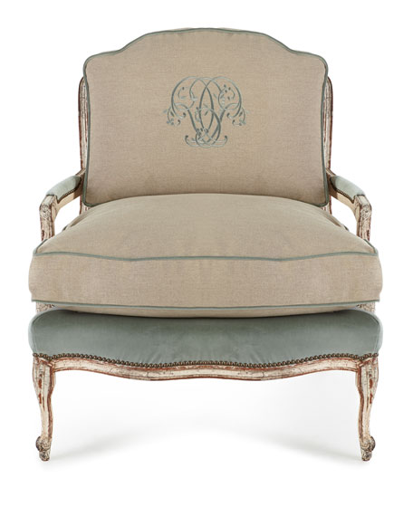 Image 2 of 3: Old Hickory Tannery Misty Bergere Chair