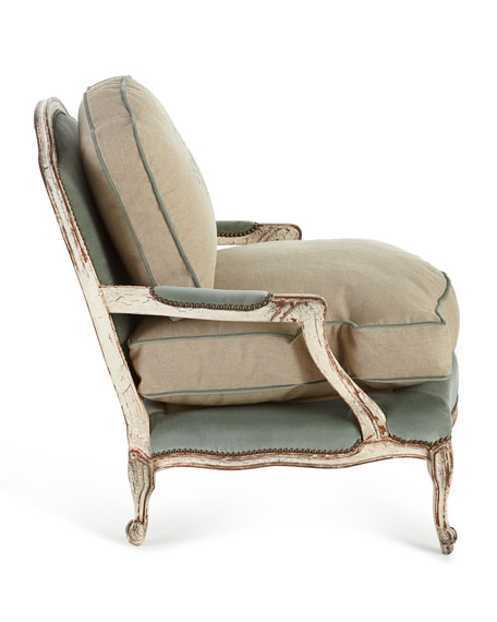 Image 3 of 3: Old Hickory Tannery Misty Bergere Chair
