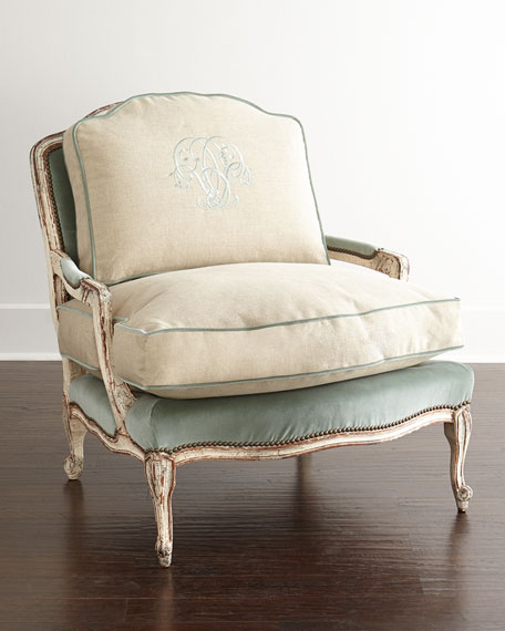 Image 1 of 3: Old Hickory Tannery Misty Bergere Chair