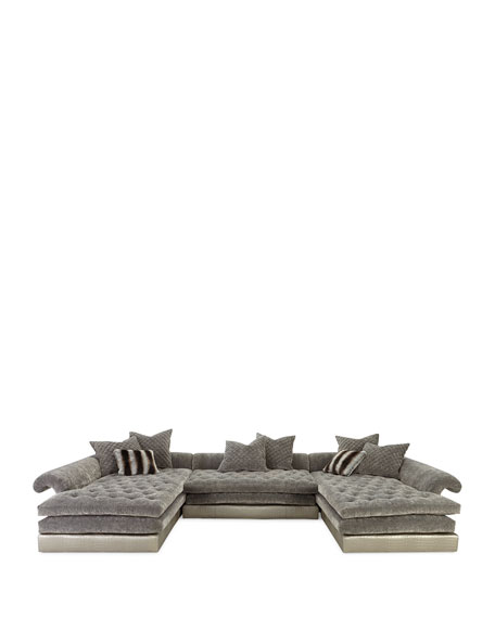 """Old Hickory Tannery Galvin Three-Piece Sectional Sofa 170"""""""