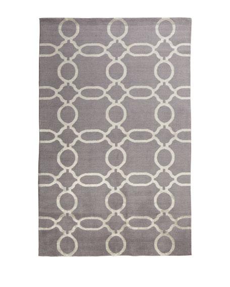 Gray Links Rug, 8' x 10'