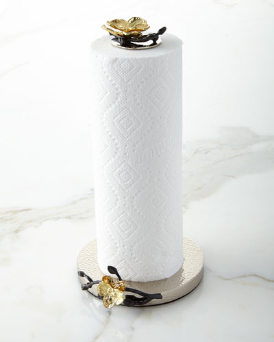Gold Orchid Paper Towel Holder
