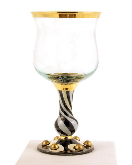 MacKenzie-Childs Tango Wine Glass