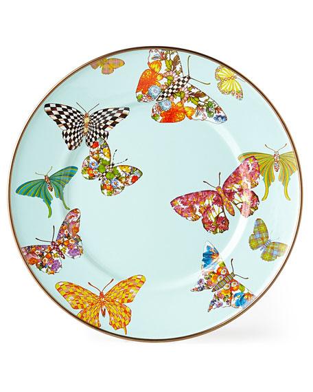 MacKenzie-Childs Butterfly Garden Sky Salad/Dessert Plate