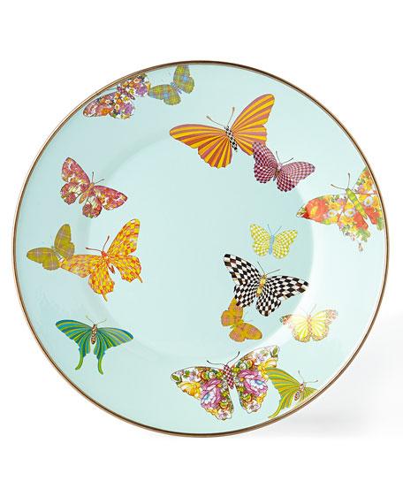 MacKenzie-Childs Butterfly Garden Sky Dinner Plate