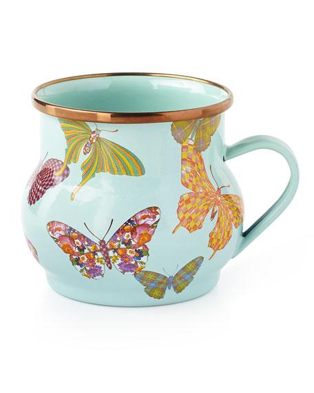 MacKenzie-Childs Butterfly Garden Sky Mug
