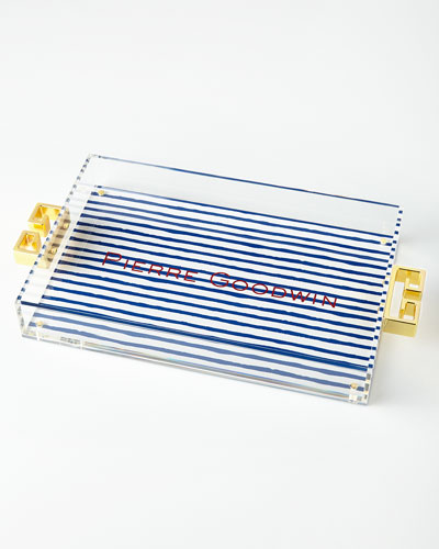 Sailor Stripe Lucite Tray