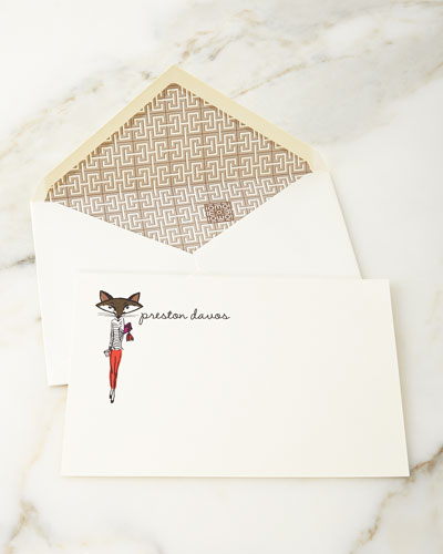 Parker Thatch Lady Fox Personalized Notecards