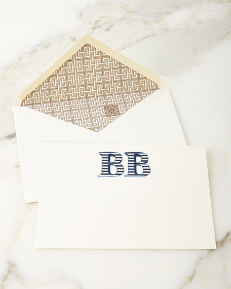 Sailor Stripe Personalized Notecards