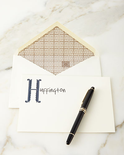 Scroll Personalized Notecards