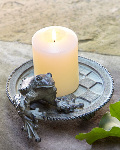 Frog Candle Plate