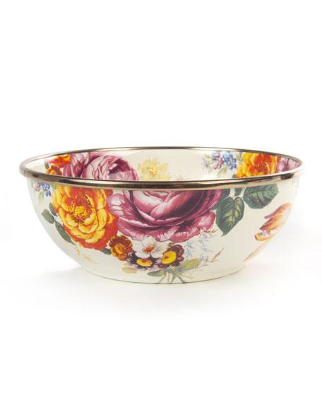 MacKenzie-Childs Flower Market White Everyday Bowl