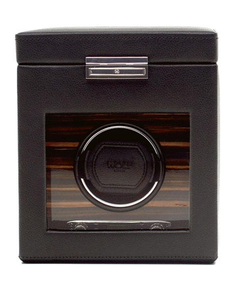 WOLF Roadster Single Watch Winder with Storage