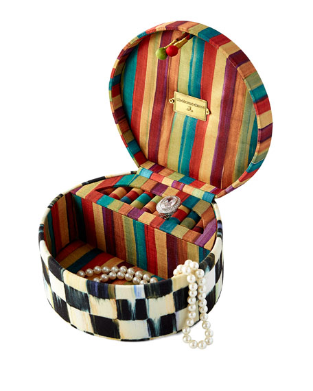 MacKenzie-ChildsCourtly Check Round Jewelry Box