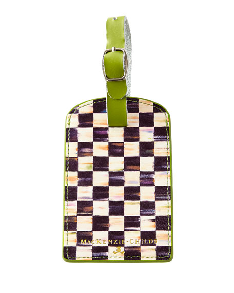 MacKenzie-Childs Courtly Check Luggage Tag