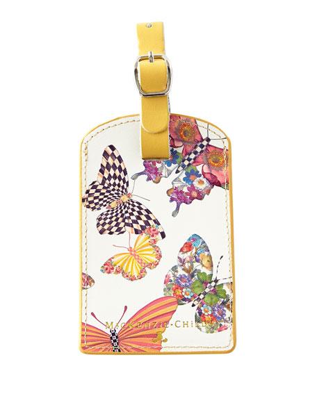 MacKenzie-Childs Butterfly Garden Luggage Tag