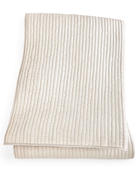 Annie Selke Luxe King Seta Quilted Silk Coverlet