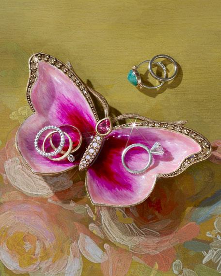 Jay Strongwater Juliet Butterfly Trinket Tray