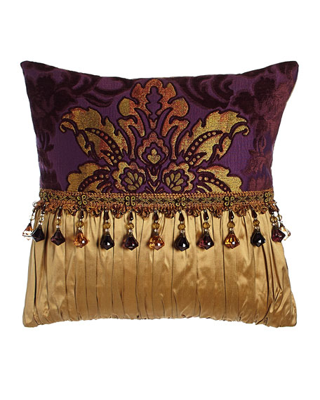"Dian Austin Couture Home Royal Court Pieced Pillow, 17""Sq."
