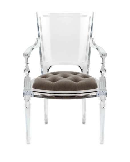 Image 2 of 3: Global Views Katherine Acrylic Armchair