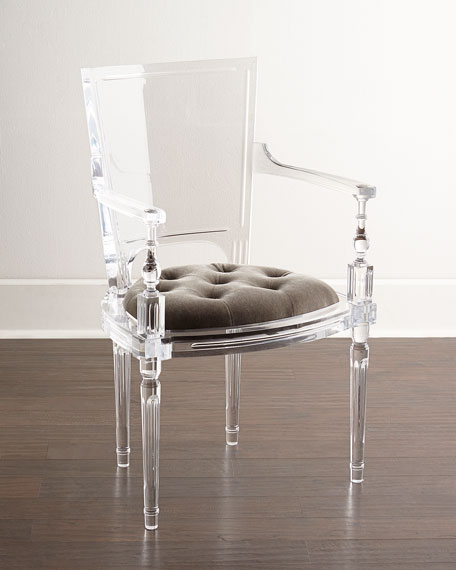 Image 1 of 3: Global Views Katherine Acrylic Armchair